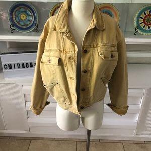 Vintage Banana Republic mustard denim jacket